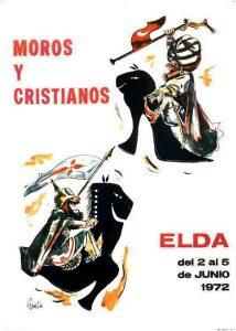 Cartel de Moros y Cristianos de Elda del año 1972 muy identificativo de nuestra industria.